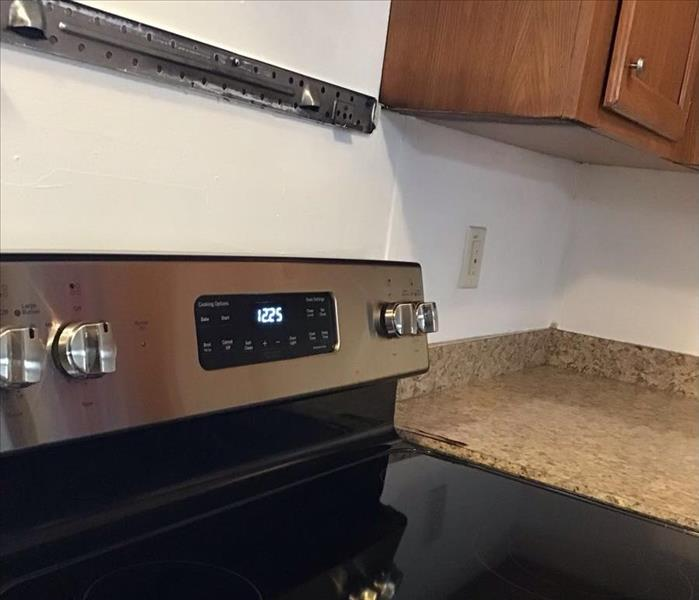an oven in a kitchen