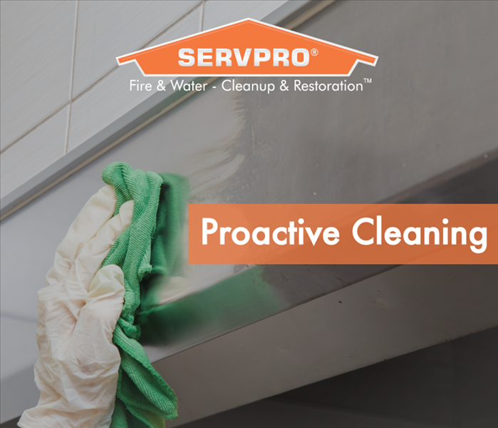 a graphic that says proactive cleaning
