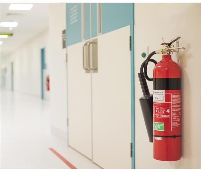 Fire extinguisher in the operating department